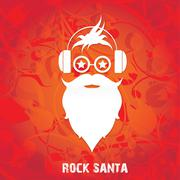 Christmas santa claus beard Stock Illustration
