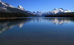 Jasper National Park, Lake Maligne Stock Photos