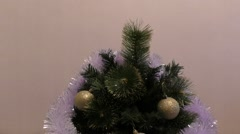 Decorate the Christmas tree Stock Footage