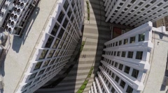 Road between buildings of business complex Aquamarine - stock footage