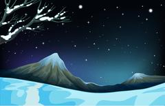 Nature scene during the winter time Stock Illustration