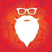 Christmas santa claus beard - stock illustration