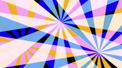 Retro Pinwheels Psychedelic Hypnotic VJ Background loop pastel Stock Footage