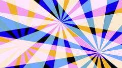 Retro Pinwheels Psychedelic Hypnotic VJ Background loop pastel - stock footage
