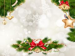Christmas Fir Tree. EPS 10 - stock illustration