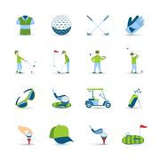 Golf Icons Set Stock Illustration
