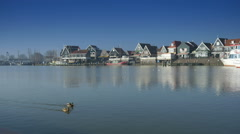 Quay at Volendam, The Netherlands Stock Footage