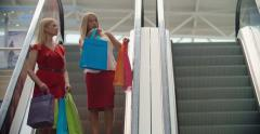 Blonde Shopaholics Stock Footage