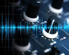 Equalizer and sound concept Stock Photos