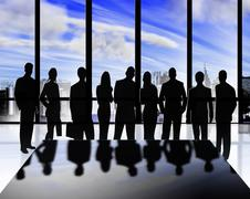 Business silhouettes Stock Illustration
