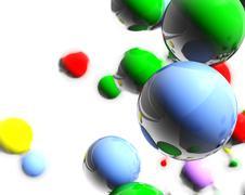 colored balls - stock illustration