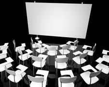 Stock Illustration of Empty black classroom