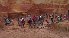 Open Sapphire mine Ilakaka 13 Stock Footage