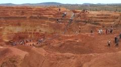 Open Sapphire mine Ilakaka Stock Footage