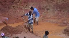 Open Sapphire mine Ilakaka 8 Stock Footage