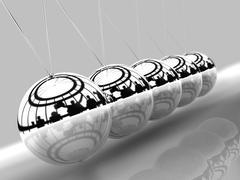 Balancing balls Newton's cradle - stock illustration