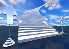 Stock Illustration of stairway to heaven