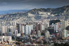 Bolivia, La paz, the capital city - stock photo