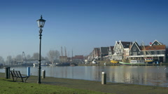 Harbor at Volendam, The Netherlands Stock Footage