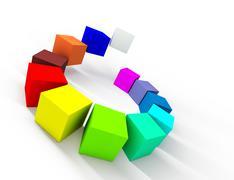 Color palette Stock Illustration