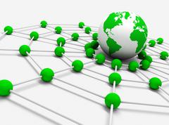 Internet and networking Stock Illustration