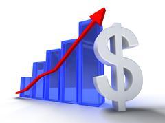 Statistics and dollar - stock illustration