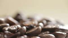 Fresh coffee beans rotation Stock Footage