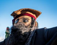 Pirate Scarecrow - stock photo
