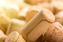 Many wine corks Stock Photos