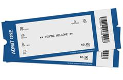 Two tickets - stock illustration