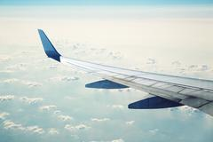 Airliner in flight Stock Photos