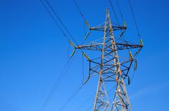 Electricity transmission pylon Stock Photos