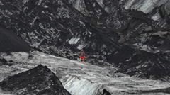 ICELAND glacier Gletscher Solheimajoekull Stock Footage