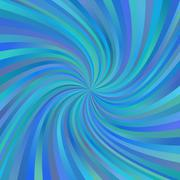 Stock Illustration of Blue abstract multicolored spiral ray background