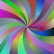 Abstract colorful spiral ray design background - stock illustration