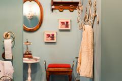 Modern house bathroom interior Stock Photos
