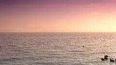 Ijsselmeer at sunset. Volendam, The Netherlands Stock Footage