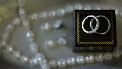 Wedding Bands On Top of Box Stock Footage