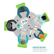 Business Meeting Flat - stock illustration