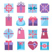 Gift And Present Box Set - stock illustration