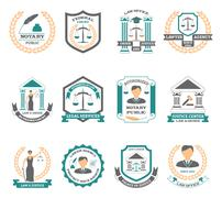 Lawyer Logo Set Stock Illustration
