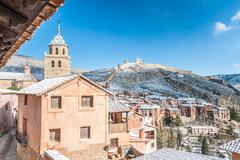 Stock Photo of Spain, Aragon, Teruel Province, Albarracin, Medieval walled town