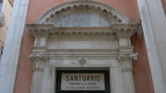 The entrance to San Giovanni Grisostomo Church in Venice Stock Footage