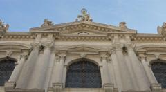 View of Scuola Grande Confraternita Di S.Teodoro in Campo San Salvador, Venice Stock Footage