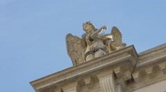 Angel statue on Scuola Grande Confraternita S.Teodoro in Venice Stock Footage