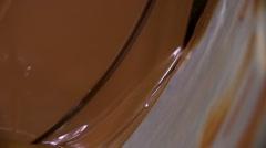 Milk chocolate, dark chocolate, chocolate production Stock Footage