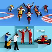 Racing Banners Set Piirros