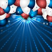 Stock Illustration of Celebration vector background with colorful balloons and confetti. Design for
