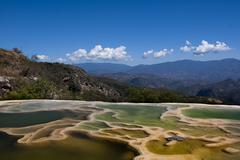 Mexico, Oaxaca, View of Hierve el agua - stock photo