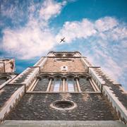 United Kingdom, England, London, St Matthew's Church, Upward view of church Stock Photos